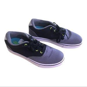 New Heelys Black Grey Green Sneakers